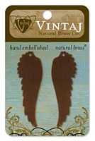 Vintaj Alterred Blank, alama, 2 buc, 52x17mm - Feathered Left Wing