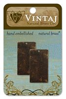 Vintaj Alterred Blank, alama, 2 buc, 32mm - Rectangle