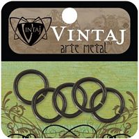 Inel metal, Vintaj Smooth Jump Ring, Arte Metal, 5 buc, 15mm