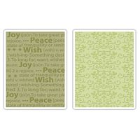 Matrita Sizzix Textured Impressions Embossing Folders, Ornate Swirls & Winter Words, 2buc