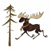 Matrite Sizzix Thinlits Merry Moose, 7 buc