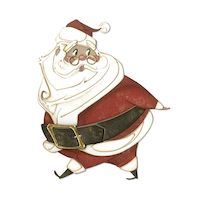 Matrita Sizzix Thinlits Jolly St Nick, 11 buc