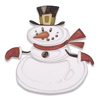 Matrita Sizzix Thinlits Mr Snowman, 11 buc