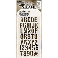 Sablon Tim Holtz Crate, Stampers Anonymous