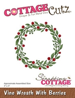 Matrita Scrapping Cottage Vine Wreath With Berries, CottageCutz