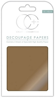 Hartie decoupage Metallic Antique Gold, 35x40cm, 3buc, Craft Consortium