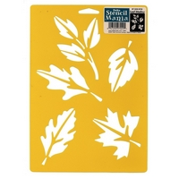Sablon decorativ Leaf medley, 7x10in, Delta Stencil Mania, Plaid