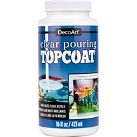 Clear Pouring TopCoat, 473ml, Decoart