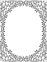 Placa embosare Jasmine Frame 5x7in, Creative Expressions