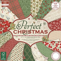 Set cartoane imprimate Perfect Christmas, 12x12in, Trimcraft