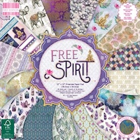 Set cartoane imprimate Free Spirit, 12x12in, 48 coli, Trimcraft