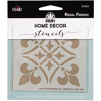 Sablon decorativ Regal French, 4x4in, Plaid