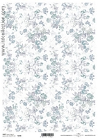 Hartie decoupage Soft shabby chic, A4, 40gmp, ITD-S216