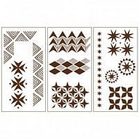 Sablon decorativ tribal, 22x42cm, Martha Stewart
