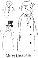 Stampile acrilice, Merry Christmas Snowmen, A6, Crafty Impressions
