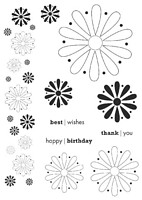 Stampile clear acrilice, Simple Flowers, Art Stamps