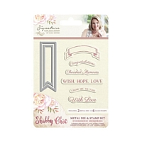 Matrita cu stampile Shabby Chic Cherished Memories, Crafters Companion