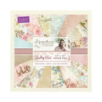 Set cartoane imprimate 12x12in, 48 coli, 180g, Shabby Chic, Crafters Companion