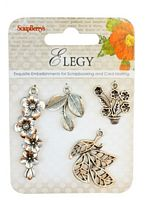 Ornamente metalice, charms set Elegy 1, ScrapBerry