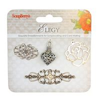 Ornamente metalice, charms set Elegy 2, ScrapBerry
