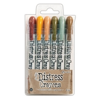 Distress Crayons Set 10, Ranger Ink